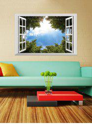 Window Scenery 3D Blue Sky Tree Window Wall Sticker