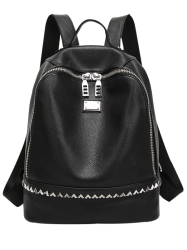 Faux Leather Zip Around Rivet Backpack