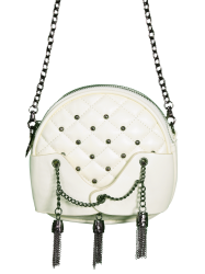 Rivet Tassel Chains Quilted Bag