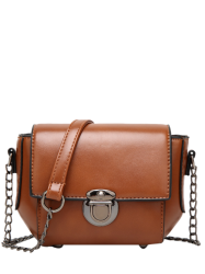 Metal Detial Mini Cross Body Bag