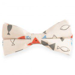 Brief Strokes Fish Print Bow Tie