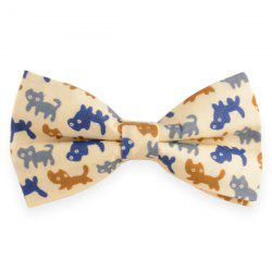 Adjustable Cartoon kitten Printed Bow Tie