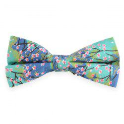 Flowering Branches Printed Adjustable Bow Tie