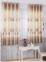 Birds Printed Window Blackout Curtain For Living Room -