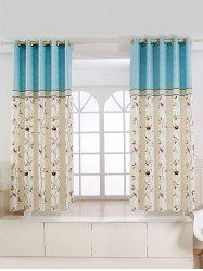 Rattan Bird Printed Screening Blackout Curtain