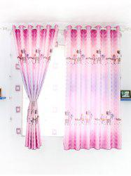 Cartoon Animal Printed Blackout Curtain For Children Room