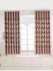 L'Europe Vague Jacquard Shading Blackout Curtain - Pourpre