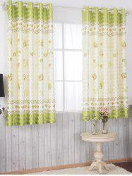 Cartoon Mushroom Grommet Top Blackout Curtain -