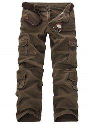 Pockets Design Slimming Cargo Pants