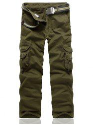 String Embellished Multi Pocket Cargo Pants -