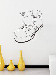 Removable High Top Plimsolls Print Personalised Vinyl Wall Sticker