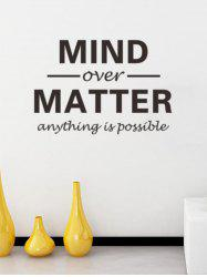 Removable Letters Mind Over Matter Personalised Vinyl Wall Stickers