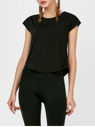 Self Tie active Surplice Top - Noir