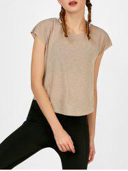 Self Tie Surplice Running Gym T-Shirt