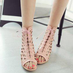 Hollow Out Zip Sandals