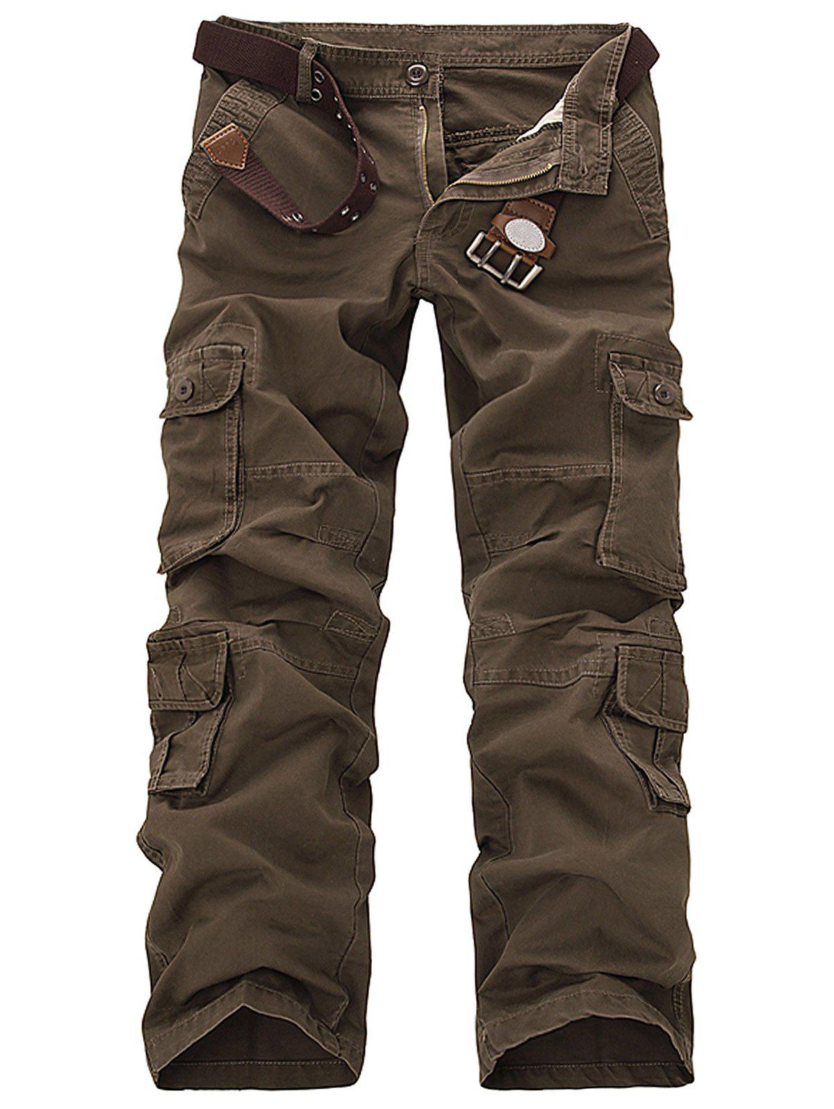 Outfit Pockets Design Slimming Cargo Pants