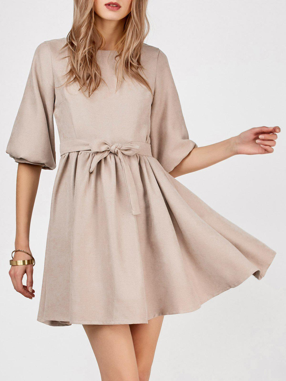 Buy Puff Sleeve Mini A Line Dress