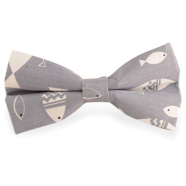 Affordable Brief Strokes Fish Print Bow Tie