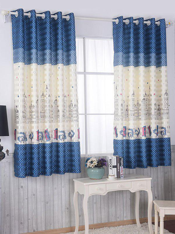Fashion Screening Blackout Window Curtain Panel For Bedroom