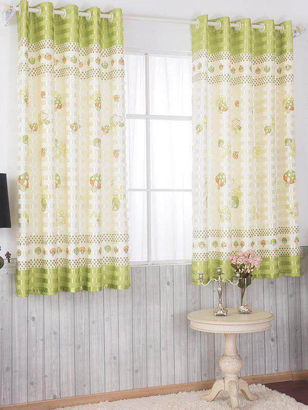 Shops Cartoon Mushroom Grommet Top Blackout Curtain