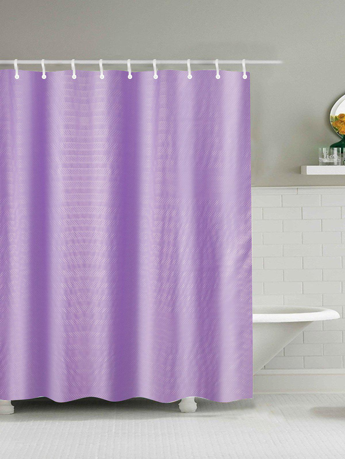 Purple Christmas Tree Outside The Window Fabric Shower