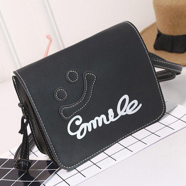 Cheap Smile Cross Body Flap Bag
