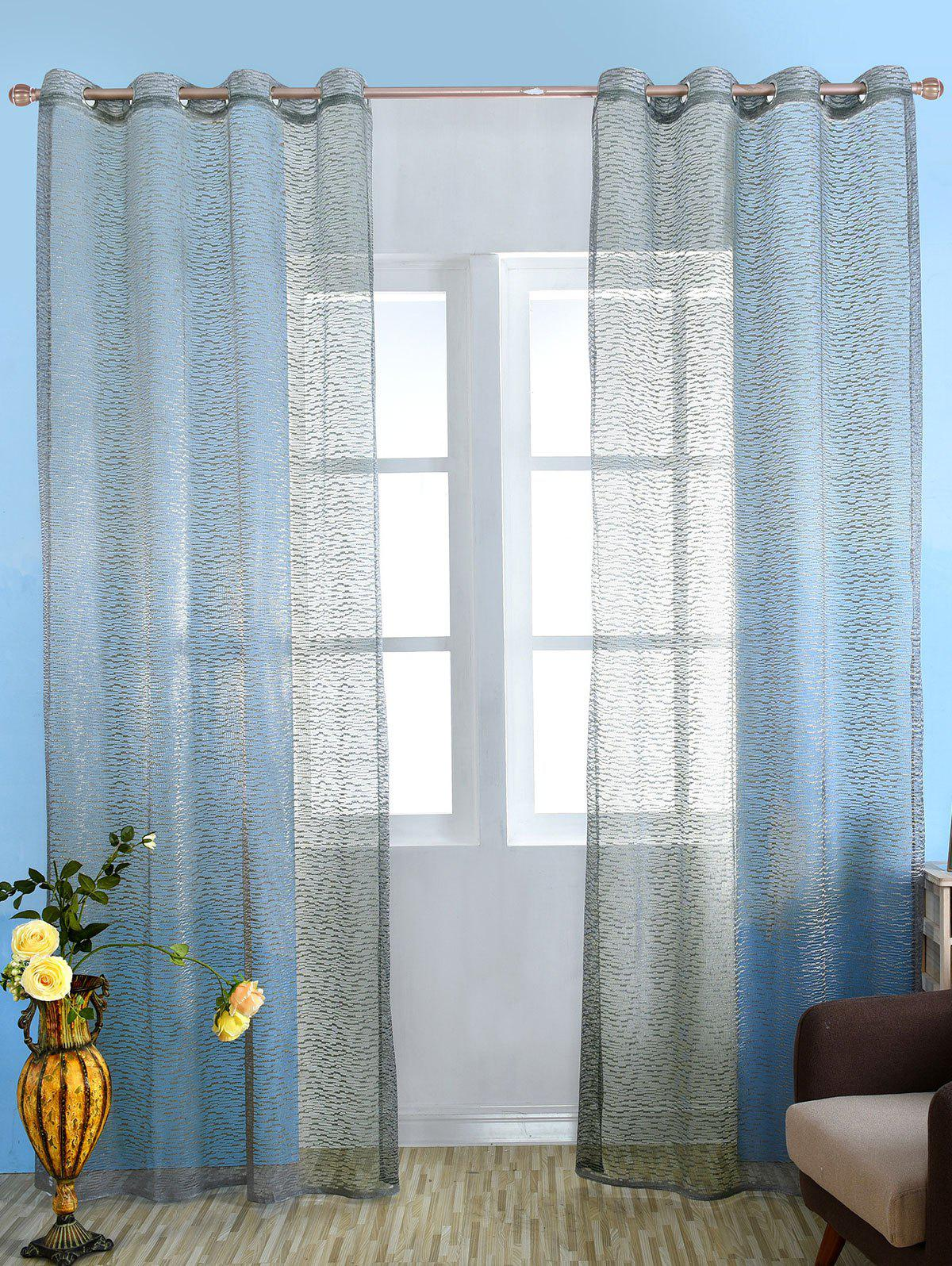 Gray 100 250cm European Style Sheer Tulle Curtain For