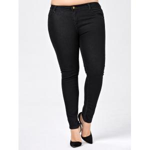 Plus Size Skinny Jeans with Pocket -