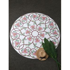 Floral Vines Round Beach Throw Cover