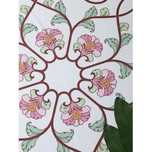 Floral Vines Round Beach Throw Cover -