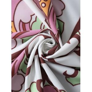 Floral Vines Round Beach Throw Cover - COLORMIX ONE SIZE
