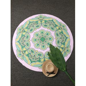 Round Printed Beach Cover Throw