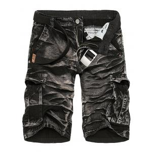 Camouflage Tie Dye Multi Pockets Cargo Shorts