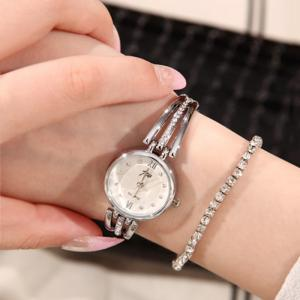 JW Alloy Rhinestone Analog Bracelet Watch