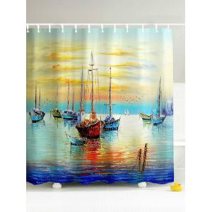 Sailing Oceangoing Voyage 3D Shower Curtain