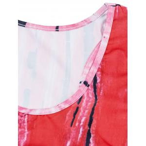 Tank Dress Mini U Neck Abstract Imprimer -