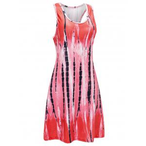 U Neck Abstract Print Mini Tank Dress -