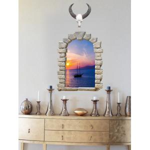 3D Faux Window Scenery Removable Wall Sticker