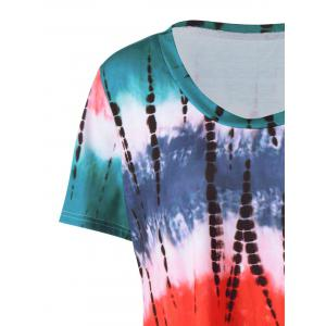 Plus Size  Tie Dye Long T-Shirt - COLORMIX 4XL