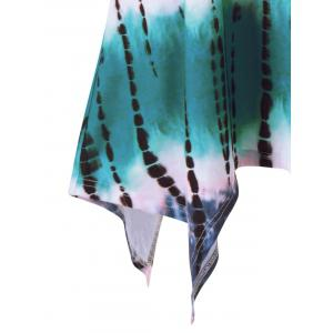 Plus Size  Tie Dye Long T-Shirt - COLORMIX 5XL