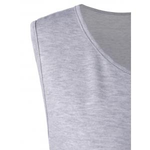 Flounced Plus Size Extra Long Tank Tops - GRAY 4XL