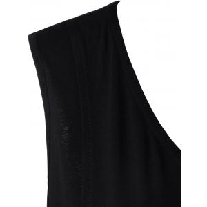 Plus Size Asymmetric Panel Long Tank Top -