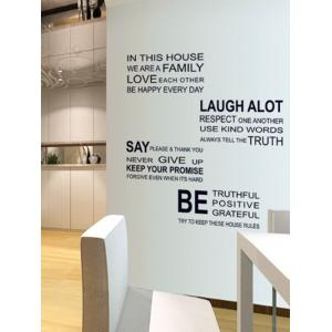 We Are Family Quote Wall Stickers For Living Room - BLACK 60*90CM