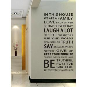 We Are Family Quote Wall Stickers For Living Room - Black - 60*90cm