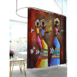 Ethnic Mural Art Printed Anti-bacteria Shower Curtain - COLORMIX 150*180CM