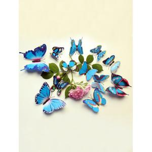 12 Pcs Simulation Butterfly Home Decor Wall Stickers - Blue - W24 Inch * L71 Inch