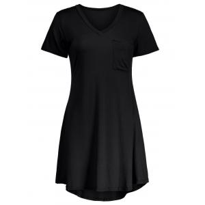 Casual Short Sleeve A Line T Shirt Swing Dress