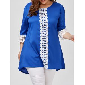 Lace Trim Plus Size Tunic Top