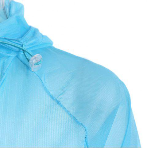 Store Ultra Thin Hooded Sun Protection Raglan Sleeve Skin Windbreaker - ONE SIZE WINDSOR BLUE Mobile