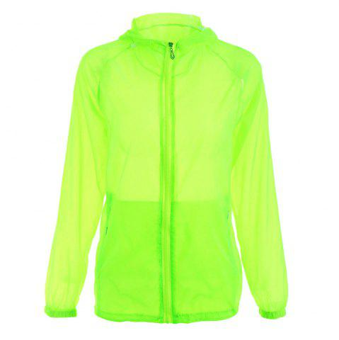 Outfits Ultra Thin Hooded Sun Protection Raglan Sleeve Skin Windbreaker - ONE SIZE LIGHT GREEN Mobile